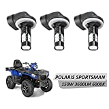 DSparts 3 Pack LED Headlight Bulbs Lamps 150W 6000K 3600LM Super White Color For Polaris Sportsman ACE