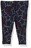 French Toast Baby Girls' Stretch Printed Capri Legging, Surf The Web Star, 24 Months