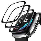 XIMU - Protector de pantalla compatible con Fitbit Sense/Versa 3, 3 unidades [antiarañazos] [sin...
