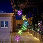 Yooda Color Changing Wind Chime Solar Powered Hummingbird Wind Chime Lights Wind Mobile Portable Waterproof Outdoor Decorative Wind Bell Light for Home Party Night Garden Decoration 5