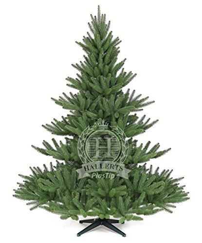 Original Hallerts® Spritzguss Weihnachtsbaum Bolton 180 cm als stufige Edeltanne - Christbaum zu 100% in Spritzguss PlasTip® Qualität - schwer entflammbar nach B1 Norm, Material TÜV und SGS geprüft - Premium Spritzgusstanne