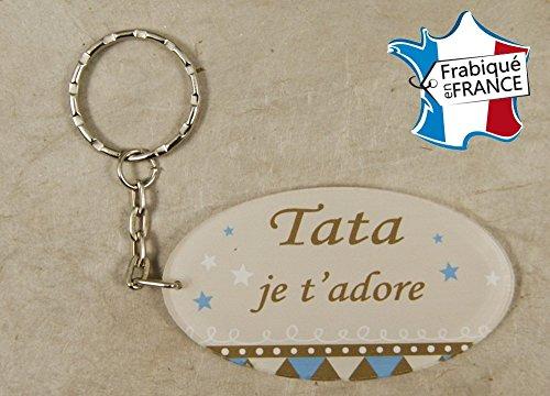 Porte Clef - Tata je t'adore (Cadeau anniversaire, noël, annonce de naissance …)