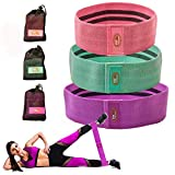 Booty Bands 3 Resistance Bands Set for Women - Hips Thighs Legs Shoulders Arms - thigh bands for...