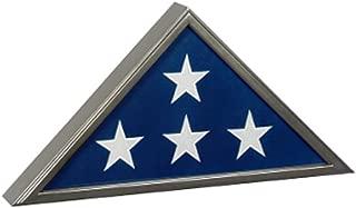 Silver Flag Display Case, Casket Flag Frame, Funeral Flag Box perfect Gun Metal Military Finish