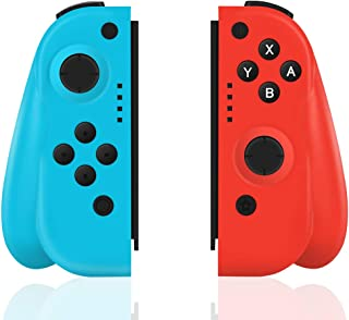 Xingmeng Nintendo Switch コントローラー Joy-Con の代用品 ジャイロ 振動 グリップ付き ジャイロ機能 ワイヤレス接続