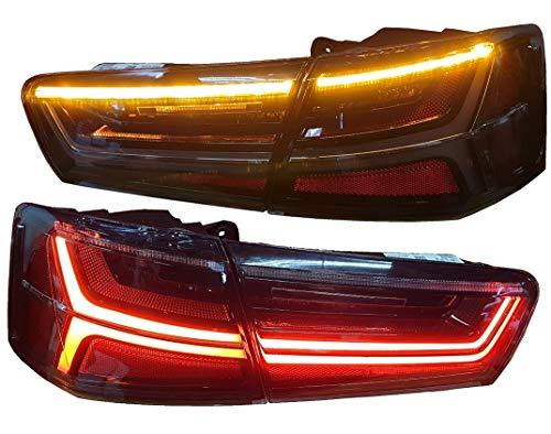 Rückleuchten Heckleuchten RA25ELBSY LED Laufblinker Lightbar schwarz A6 4G Limousine