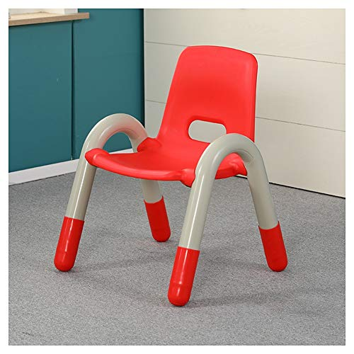 CHAXIA Chaise for Enfants Jardin d'enfants Chaise Arrière Bébé avec Accoudoirs Petite Chaise Empilable, 6 Couleurs en Option (Color : Red, Size : 41x38x54cm)