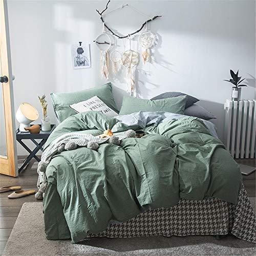 Kanqingqing Bedsprei Bedsprei met queensize bed, 4-delig beddengoedset, 1 plat vel, 1 hoeslaken en 2 kussenslopen, super zacht, warm, ademend, beter slaaphandleiding.