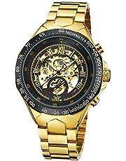 腕時計、メンズ腕時計、ゴールデンスポーツデザインの腕時計自動巻き上げ自動スケルトン機械式腕時計