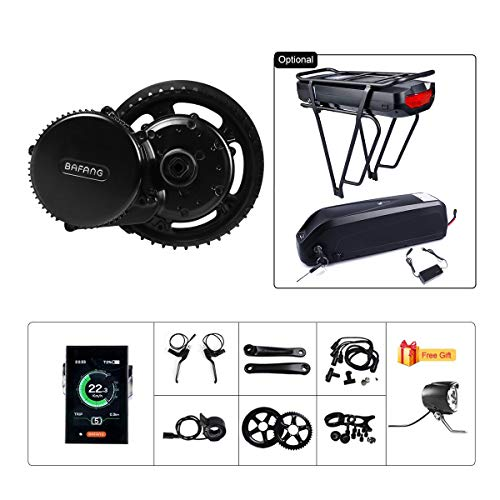 BAFANG BBS02B 48V 750W Ebike Motor with LCD Display Mid Drive Electric Bike Conversion Kit with Battery (C961 Display, Motor kit+46T Chainring+Shark Battery 48V 12Ah)