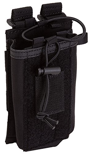 5.11 Radio Pouch Compatible with 5.11 Bags/Packs/Duffels, Style 58718, Black
