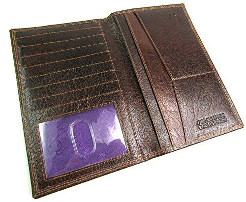 Neu Herren RFID Sperrung Schutz Premium Echte Braunes Leder Kleid Hoch Portemonnaie Kreditkarte