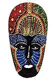 Máscara de madera étnica, decoración de estatua africana tribal Totem aborigen, África, 19 cm pintada