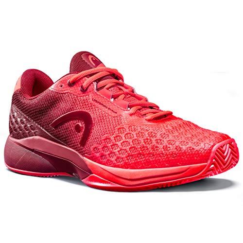 HEAD Revolt Pro 3.0 Clay Men, Zapatillas de Tenis Hombres, Neon Rojo/Chilli, 46.5 EU