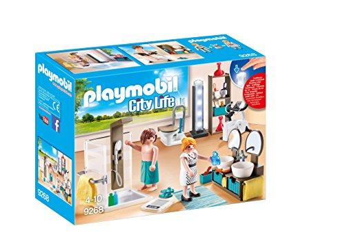 PLAYMOBIL City Life 9268 Badezimmer, Mit Lichteffekten, Ab 4 Jahren