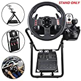 upshop1st Racing Wheel Stand fit for Logitech G25/G27/G29/G920 Most Thrustmaster Gaming Steering Wheel, Xbox360/One, Playstation, PC Platforms, Foldable & Height Adjustable for Racing Console