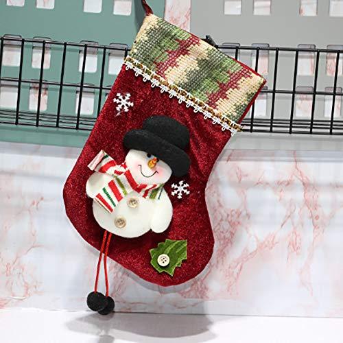 Longzhuo - Calze natalizie da riempire e appendere, calze di Babbo Natale da appendere