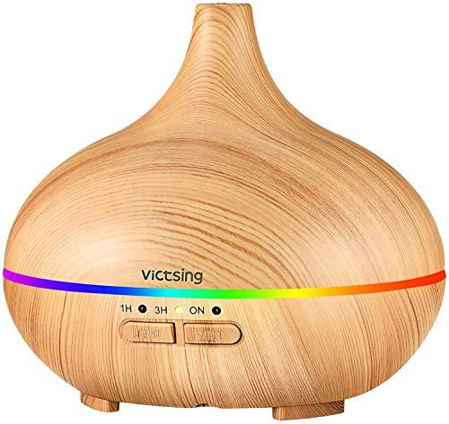 VicTsing 150ml Difusor Aceites Esenciales para Aromaterapia,Diufusor de Aromas Humidificadores de niebla fría con Apagado Automático sin Agua para Yoga, Oficina, Spa, Dormitorio,Amarillo
