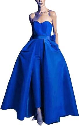 0e9b2f6a0d Women Jumpsuit Off The Shoulder Long Evening Dresses2019 Sleeveless Long  Floor Length Formal Dress
