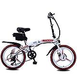 Bicicleta eléctrica de ciclomotor para adultos, bicicleta eléctrica plegable inteligente de velocidad de 20 pulgadas, 36V 8 / 10AH, 250W, Motor, bicicleta de montaña de acero al carbono para hombres A