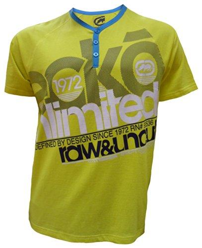 Ecko - T-shirt - - Manches courtes Homme - Jaune - Jaune - Large