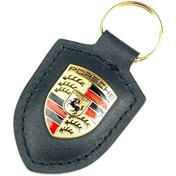 ORIGINAL Porsche Schl/üsselanh/änger BEIGE Leder mit Wappen WAP0500960E