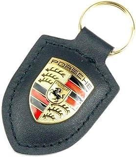 Original Porsche Porte-Cl/és Cuir Beige avec Armoiries Logo en M/étal WAP0500980H