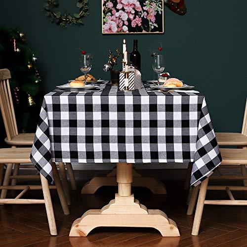 Unbekannt Tischdecke in Leinenoptik Tischdecke quadratische Form Verschiedene Größen Schmutz abweisende Tischdecke ColourSquare Form 90X140CM