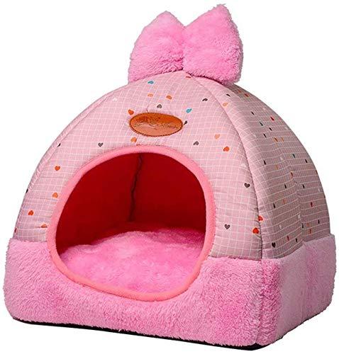 YAOSHUYANG Cama para mascotas, sofá de perrera, desmontable y lavable, caseta para perros y gatos, caseta plegable cerrada, caseta universal para perros y gatos