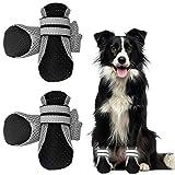 WELLXUNK® Botas para Perros, Respirable Zapatos Antideslizantes para Perros, Mascota Perro Botas para Perros Medianos y Pequeños (4pcs)