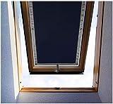 Purovi Thermo Sonnenschutz für Dachfenster | Hitzeschutz für Innen | ohne Bohren ohne kleben | große Auswahl für Velux + Roto Fenster | Ausgewählte Größe: Velux C06 und 106 – 37 x...