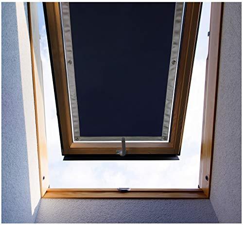 Purovi Thermo Sonnenschutz für Dachfenster | Hitzeschutz für Innen | ohne Bohren ohne kleben | große Auswahl für Velux + Roto Fenster | Ausgewählte Größe: Roto 5/7 – 32 x 56 cm