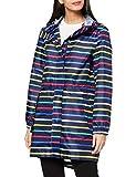 Joules Women's Golightly Rain Jacket, Multi Stripe, 10