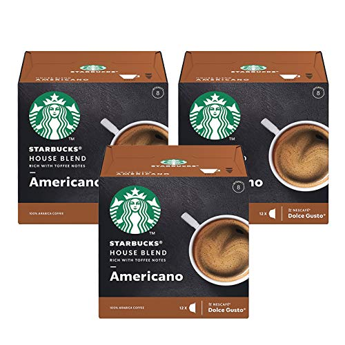 Nescafe Dolce Gusto Starbucks House Blend Americano x 3 Boxes (36 Capsules) 36 Drinks