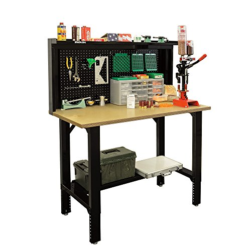 Stack-On SORB-48 Adjustable Height Pro Reloading Bench – Black