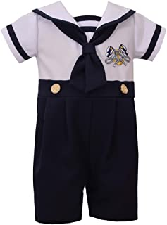 Boys Sailor Suit Outfit Nautical Boys Coverall