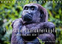 Tierische Charakterkoepfe (Tischkalender 2022 DIN A5 quer): Ingo Gerlach, der renommierte Naturfotograf hat aus seinem riesigen Bildbestand 13 Bilder von charaktervollen Tierportraits ausgesucht. Alle Tiere schauen direkt in die Kamera. (Monatskalender, 14 Seiten )