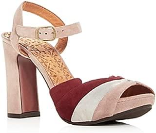 Women's Candel Suede High Block Heel Platform, Nude, Size 6.5