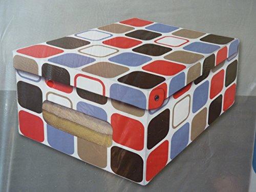 Decoratieve kartonnen set van 3, 50 cm groot 'vierkanten' opbergdozen opbergdoos voor huishouden, kantoor, was, geschenkdoos, decoratiekarton, verzameldoos, multifunctionele doos, opbergdoos, geschenkkarton