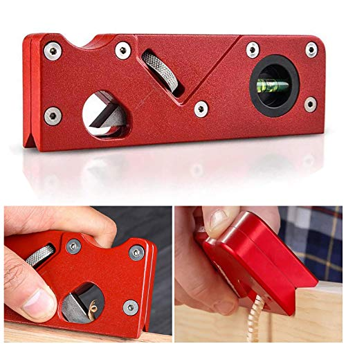 Woodworking Chamfering planer,Pocket Size Handheld Planer, 45 Degree Chamfering Planer, Smoothly Chamefering and Trimming Edge, DIY Handheld Planer Gift for Woodworking Lovers (Red)