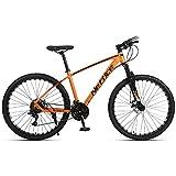 2021 New 27.5 2.1' Mountain Bike Mens 24 Speed Rear Derailleur,High-Strength Aluminum Frame, Trigger Shift Bicycle US Stock (Orange)