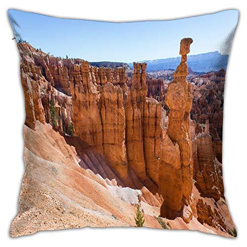 LiBei Funda de Cojín,Bryce Canyon Navajo Loop,Funda de Almohada Cuadrado para Sofá Coche Cama Sillas Decoración para Hogar(50 x 50cm)