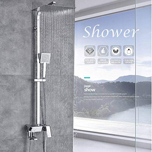 badewanne Shower Head Shower Set 10 Inch Heavy Rain Faucet Wall-Mounted Portable Shower Head Bathroom Best Gift