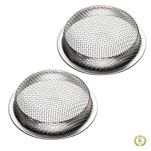 K King'z® Shisha Kopf Sieb [2 STK.] | Shisha Sieb 16 mm | Tabak Sieb Shisha für Tonkopf, Steinkopf und Glaskopf | Wasserpfeife Zubehör inclusive eBook