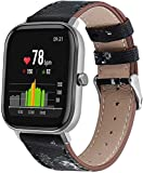 Gransho Quick Release - Compatible con Galaxy Watch 46mm / Galaxy Watch 3 45mm Correas de Reloj Cuero (22mm, Pattern 6)