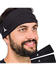 Bandeau Anti-Transpiration pour Homme et Femme. Serre-tête pour Sport, Entrainement, Running, Cyclisme, Fitness et Yoga. Anti-humidité, élastique performant
