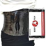 Dingfeng 3 Rolls 60 Meters Premium Black Osmotic Plastic Slimming Body Wrap Film