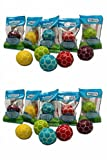 10 Fußballkaugummis in unterschiedlichen Farben -