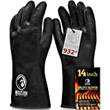 BBQ Gloves Heat Resistant High Temperature - Grill, Barbecue Cooking, Smoker, Oven, Fryer