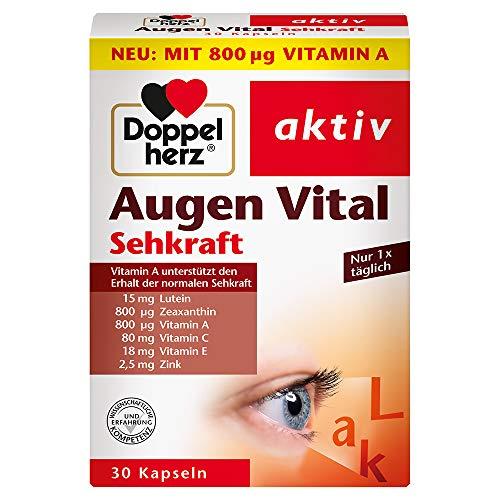 Doppelherz Augen Vital – Mit Vitamin A und Zink als Beitrag zum Erhalt der normalen Sehkraft – 30 Kapseln